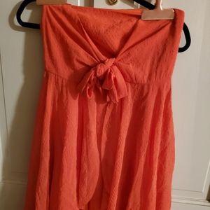 Free People Dress. Sz 2 Orange